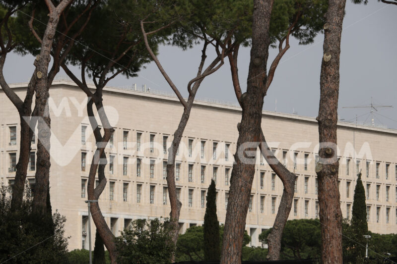 Palazzo della Farnesina, seat of the Italian Ministry of Foreign Affairs in Rome. - MyVideoimage.com