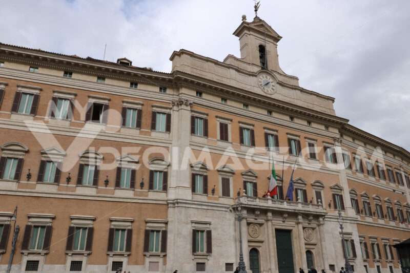 Palazzo di Montecitorio, seat of the Chamber of Deputies or Parliament. - MyVideoimage.com