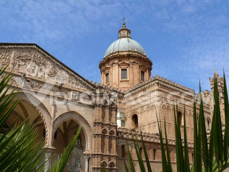 Palermo, Sicily, Italy. Facade of the cathedral. - MyVideoimage.com