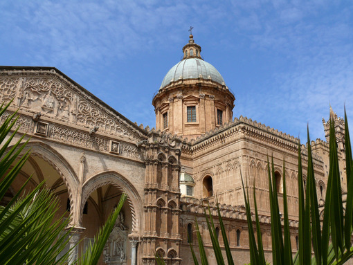 Palermo, Sicily, Italy. Facade of the cathedral. - MyVideoimage.com