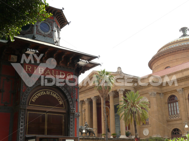 Palermo, Sicily, Italy. Maximum theater - MyVideoimage.com