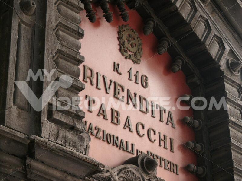 Palermo, Sicily, Italy. Tobacco shop sign - MyVideoimage.com
