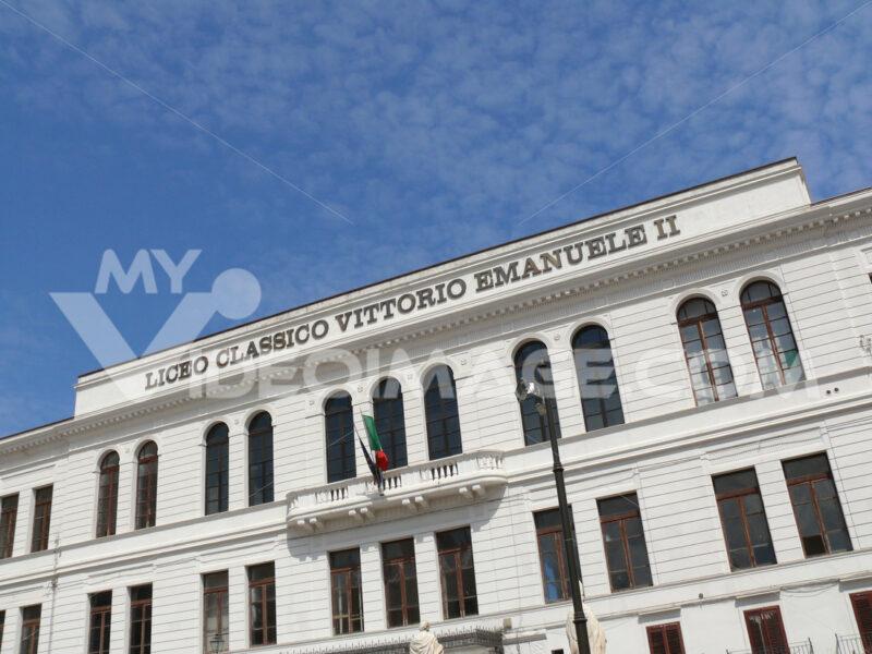 Palermo, Sicily, Italy. Vittorio Emanuele II Classical High School. - MyVideoimage.com