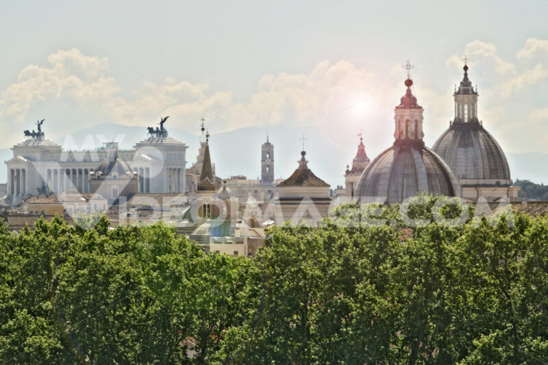 Panorama of Rome with the Altar of the Fatherland - LEphotoart.com
