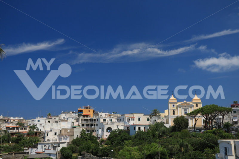 Panorama of the town of Forio d'Ischia, near Naples.  The church - MyVideoimage.com
