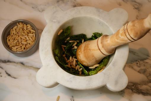 Pesto sauce. Genoese pesto, typical Italian sauce. Stock photos. - MyVideoimage.com   Foto stock & Video footage