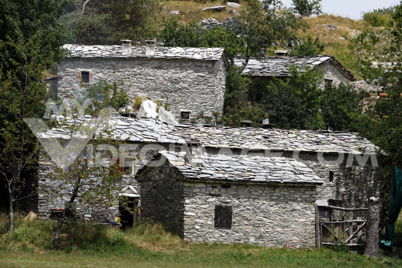 Picturesque village. Garfagnana. Alpi Apuane. Houses in stone and white marble stones. Garfagnana,  Campocatino, Apuan Alps, Lucca, Tuscany. Italy. Toscana - MyVideoimage.com | Foto stock & Video footage