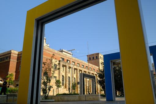 Portals in La Spezia. Colorful portals in the city. Stock photos. - MyVideoimage.com | Foto stock & Video footage