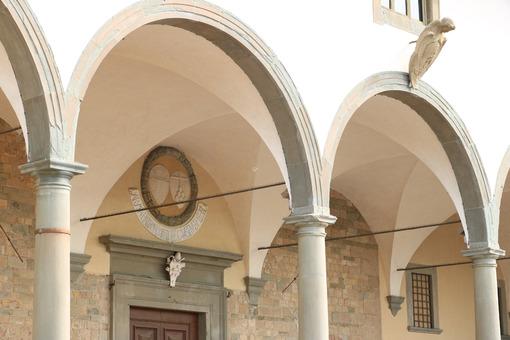 Portico of the Basilica of Santa Maria in Impruneta, near Floren - MyVideoimage.com