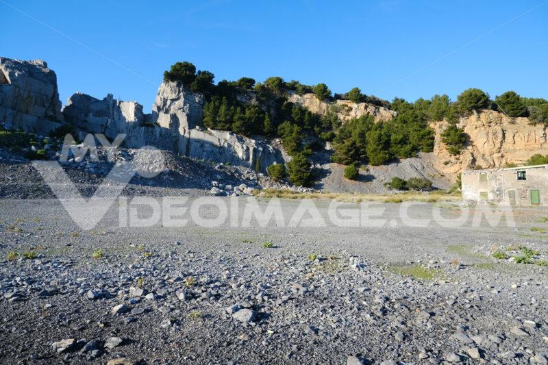 Portoro marble quarries on Palmaria Island, near the Cinque Terre in the municipality of Portovenere. La Spezia, Italy. - MyVideoimage.com