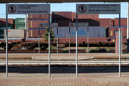 Railway station and container depot. - MyVideoimage.com