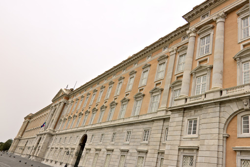 Reggia di Caserta, Italy. External main facade of the palace. Caserta royal palace photo