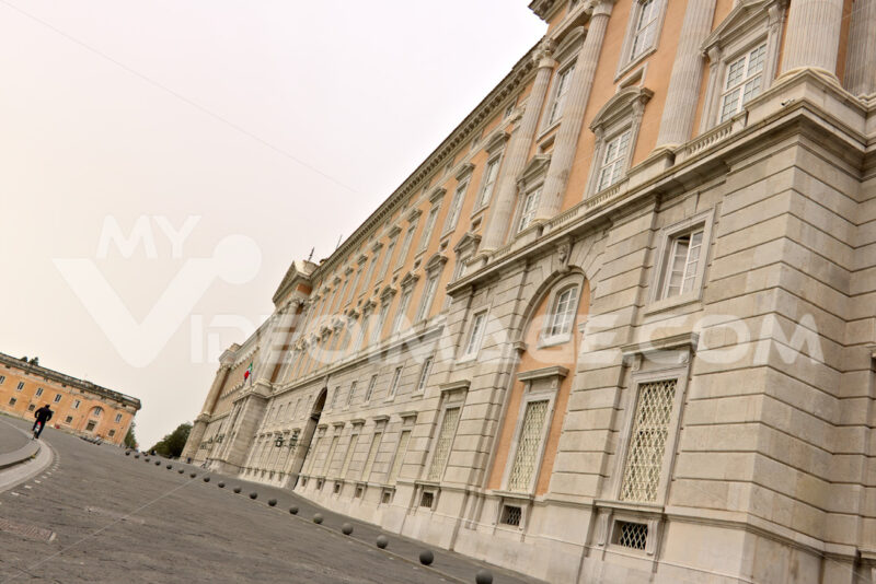 Reggia di Caserta, Italy. External main facade of the palace. Foto reggia di Caserta. Caserta royal palace photo