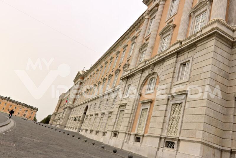 Reggia di Caserta, Italy. External main facade of the palace. Foto reggia di Caserta. Caserta royal palace photo