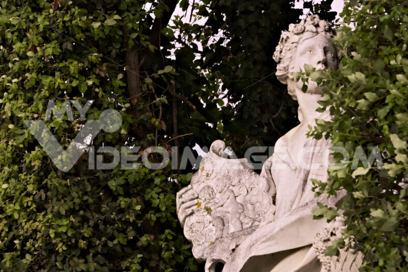 Reggia di Caserta, Italy. 10/27/2018.Statue in white marble placed in the park of the palace. - MyVideoimage.com