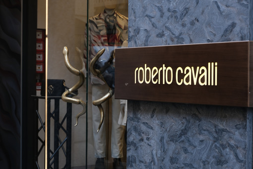 Roberto Cavalli boutique  with shop windows on Via Montenapoleon - LEphotoart.com