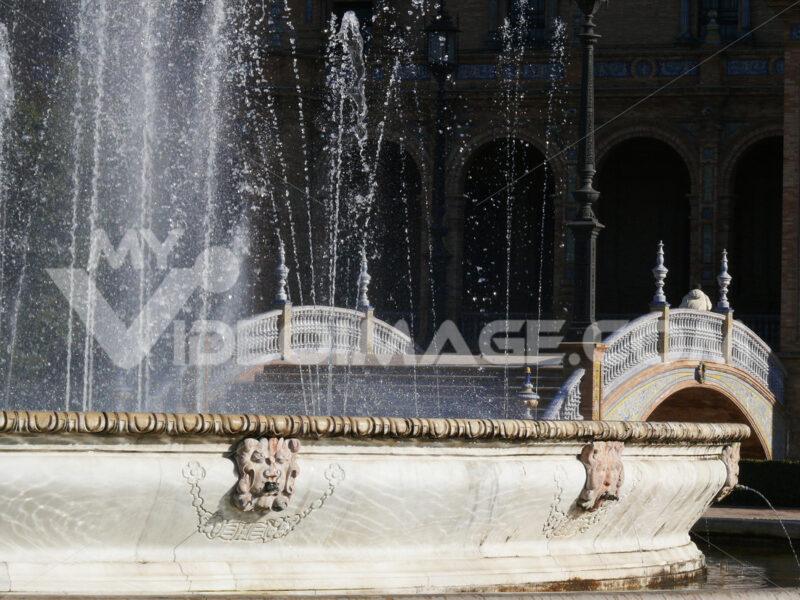 Royal Palace Square. Fountain. -Foto Siviglia. Sevilla photo