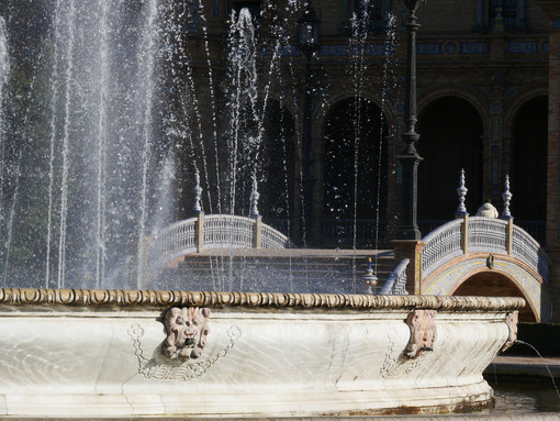 Royal Palace Square. Fountain. -Foto Siviglia. Sevilla photo