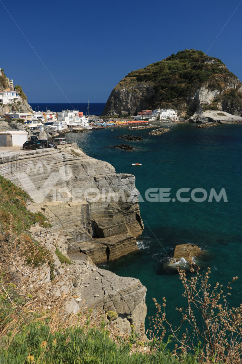 Sant'angelo di Ischia, Mediterranean sea near Naples. The mountain. Foto Ischia photos.