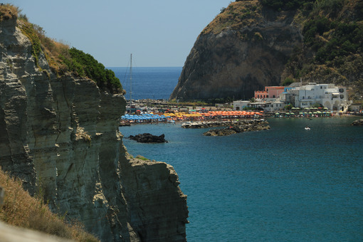 Sant'angelo di Ischia, Mediterranean sea near Naples. The mountain. Foto Ischia photos.