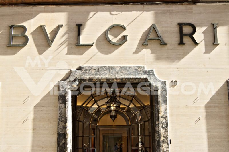 Showcase of the Bulgari store in Via Condotti. - MyVideoimage.com
