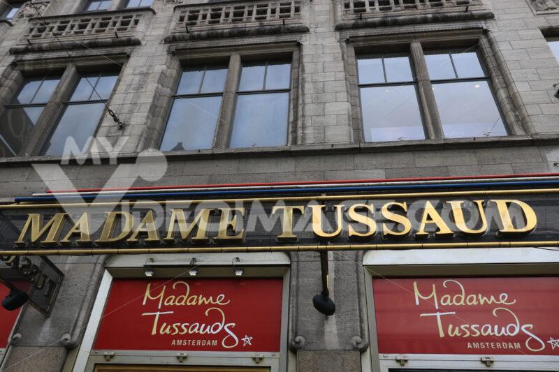 Sign of Madame Tussaud's wax mannequin museum - MyVideoimage.com
