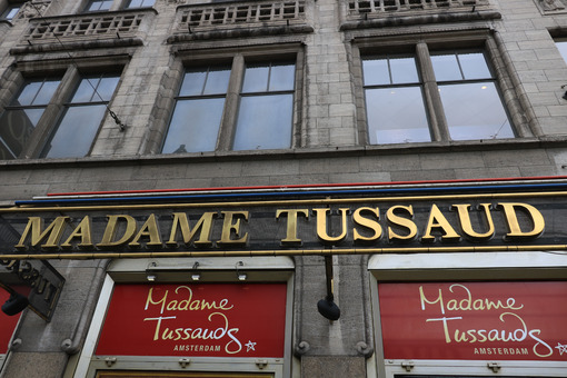 Sign of Madame Tussaud's wax mannequin museum - MyVideoimage.com