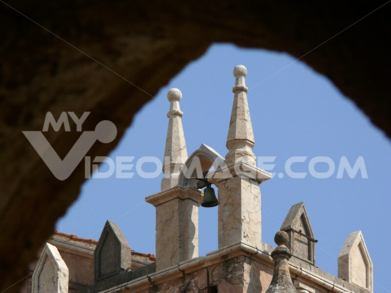 Small bell of a church in Palermo in Italy - MyVideoimage.com
