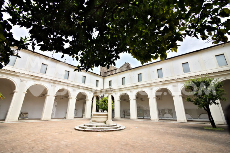 Small cloister of the Charterhouse also known as the Chiostrino. Diocletian Baths. Roma foto. - LEphotoart.com