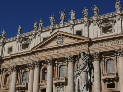 St. Peter's Basilica in the Vatican in Rome. Facade. - MyVideoimage.com