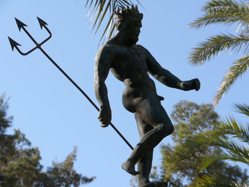Statue of Neptune in the Alcazar. - MyVideoimage.com