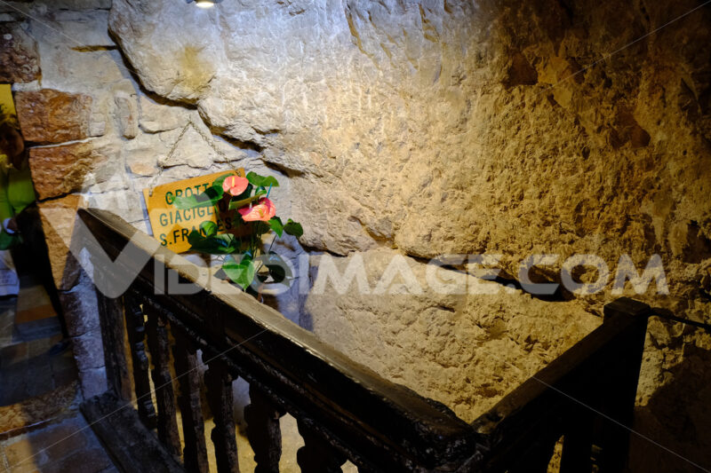 Stone bed where San Francesco di Assisi rested near the hermitage of the Carceri. - LEphotoart.com