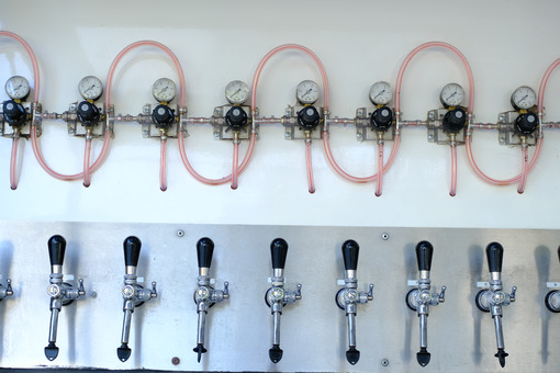 Tap system. Draft beer tapping system. Stock photos. - MyVideoimage.com | Foto stock & Video footage