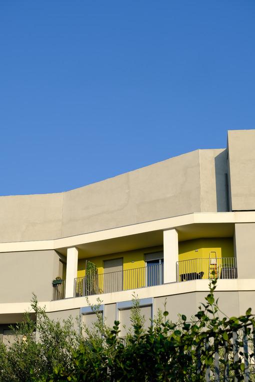 Terrace. Terrace in a modern building. Stock photos. - MyVideoimage.com | Foto stock & Video footage
