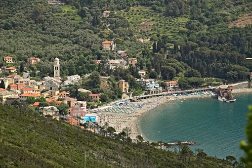 Town of Levanto seen from the hills, near the Cinque Terre. You - MyVideimage.com