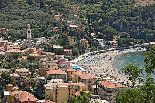 Town of Levanto seen from the hills, near the Cinque Terre. You - LEphotoart.com