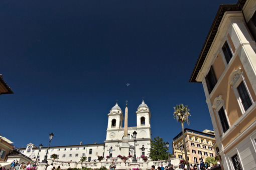 Trinità dei monti church and staircase in Rome. - LEphotoart.com