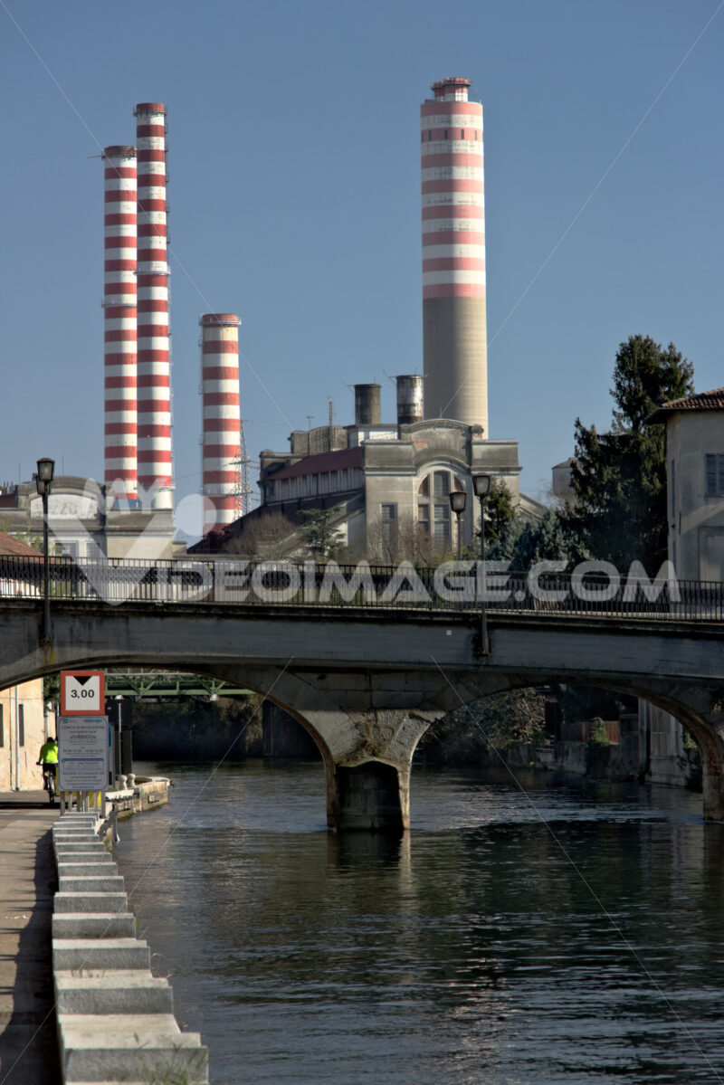 Turbigo power station, located along the Naviglio Grande. - MyVideoimage.com