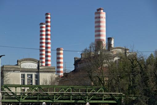 Turbigo power station, located along the Naviglio Grande. - MyVideoimage.com