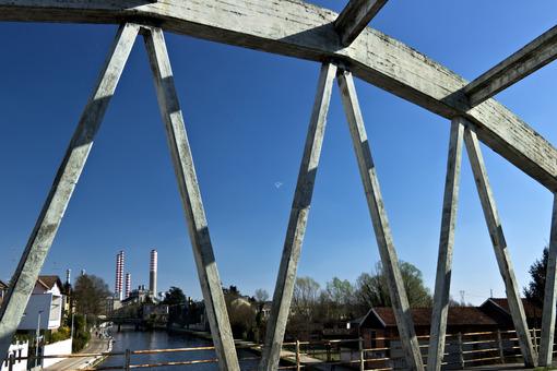 Turbigo. Milan. Lombardy. Italy. Reinforced concrete bridge. - MyVideoimage.com