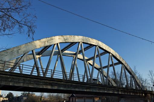 Turbigo. Milan. Lombardy. Italy. Reinforced concrete bridge. Bridge over the Naviglio Grande 40 km from Milan. - MyVideoimage.com