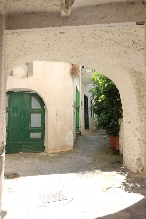 Typical Mediterranean courtyard with white walls, with vaults, p - MyVideoimage.com