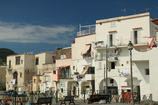 Typical degraded Mediterranean houses in the background of the b - MyVideoimage.com