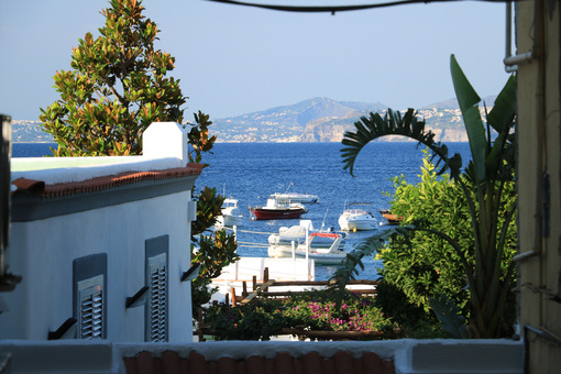 Typical houses of the Mediterranean village with the background - MyVideoimage.com