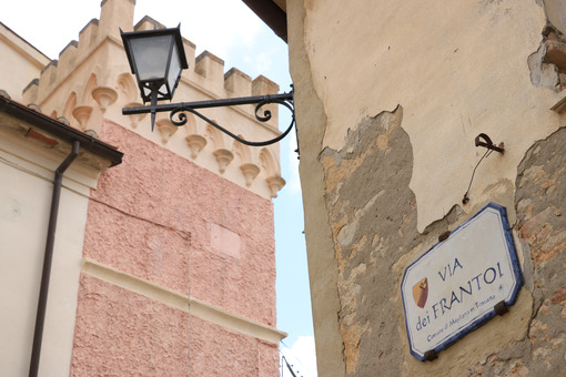 Typical houses with turrets in Magliano in Toscana. Maremma, Ita - MyVideoimage.com