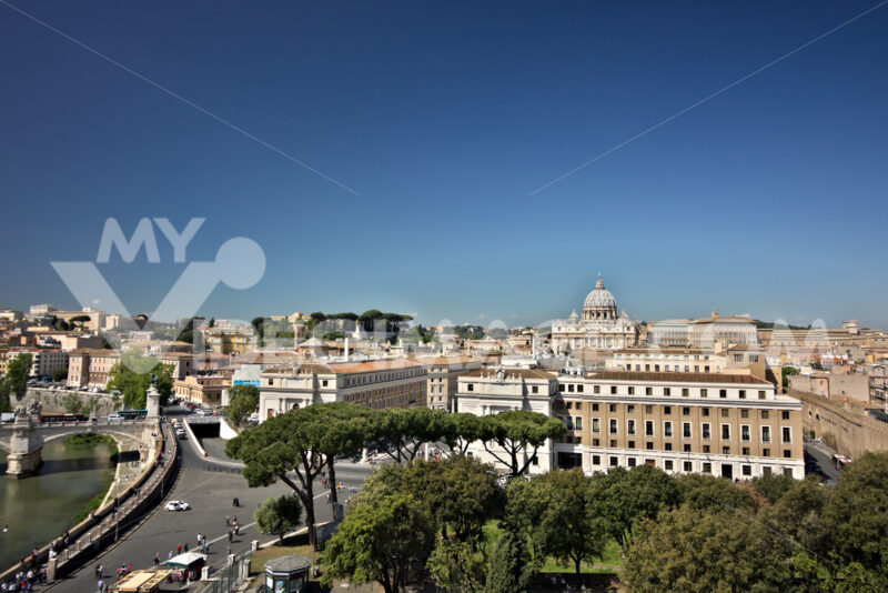 Vatican City and St. Peter's Basilica. - MyVideoimage.com