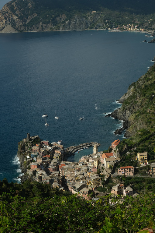 Vernazza Cinque Terre, La Spezia, Italy. From these routes it is possible to discover beautiful and unique landscapes. - MyVideoimage.com