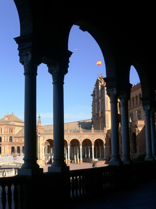 View of the royal palace taken from the porch. Sevilla photo