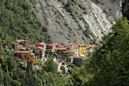 View of the village of Colonnata, where the famous lard is product. Stock free photo - LEphotoart.com