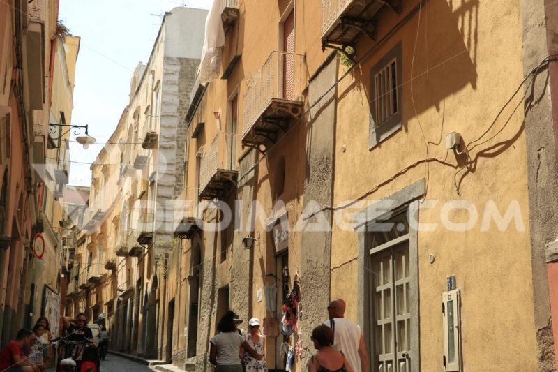 Village of Procida. Village of Procida, Mediterranean Sea, near Naples. The characte - MyVideoimage.com | Foto stock & Video footage